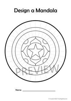 Mandala Templates – Design a mandala pattern – STARS in the centre Mandala Pattern, Mandala Design, Substitute Teacher, Teaching Materials, Dot Painting, Art Classroom, Teacher Resources, Line Art, Color Mixing