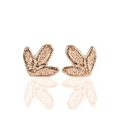 Rose gold lace stud earrings