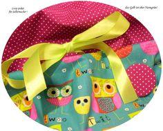 Stoffpakete - Stoffpaket♥Loop♥ DIY-türkis-Eulen,pink+ Button & - ein Designerstück von kreawusel-aufgehuebscht bei DaWanda