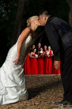 We love this photo with our newlyweds under the watchful eye of their bridal party. Such a beautiful group wedding moment by Just One Moment Photography #Mackay #weddings #weddingphotos #bridalparty www.qldweddingphoto.com.au One Moment, Wedding Moments, Newlyweds, Wedding Photos, Group, Weddings, Bridal, Party, Photography
