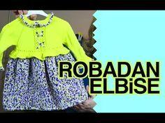 Örgü ile Robadan Kumaş Görünümlü Bebe Elbisesi - YouTube