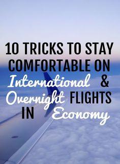 10 tricks to stay comfortable international overnight flights in economy