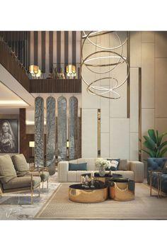 Loft Interior, Luxury Interior Design, Interior Design Living Room, Living Room Designs, Living Rooms, Contemporary Interior Design, Modern House Design, Modern Contemporary, Moodboard Interior