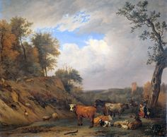 Paulus Potter SHEPHERDS WITH THEIR CATTLE 1650 - 1654