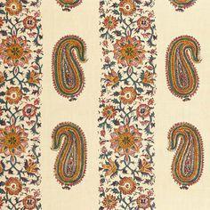 Paisley Stripe from Soane Motif Paisley, Paisley Fabric, Paisley Pattern, Pattern Art, Paisley Print, Textile Patterns, Textile Design, Fabric Design, Print Patterns