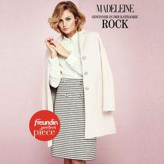 >> Das Must-Have der neuen Saison! <<  Sagt auch das #freundin Magazin und kürte den eleganten Wickelrock aus der aktuellen MADELEINE Kollektion zum #Perfectpiece 2016!