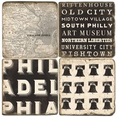 Image of Philadelphia coasters - $13 each