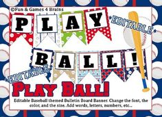This file includes 14 different designs of Baseball themed Bulletin Board banners. Two banners per page. Opens with Power Point or Google Slides. Editable means you can change the font, size and color of the font, and add numbers, words, etc... Papers and graphics purchased from Prettygrafikdesign Prettygrafikdesign