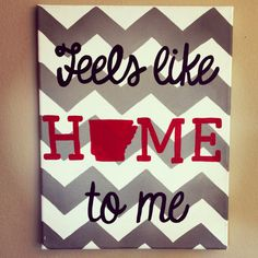 Hand painted Arkansas home canvas 11x14 by TheCraftyFoxLR on Etsy, $25.00 Canvas Crafts, Diy Canvas, Canvas Art, Diy Wall Art, Diy Art, Wall Decor, Crafts To Do, Arts And Crafts, Room Crafts