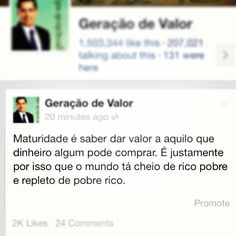 Ver esta foto do Instagram de @geracaodevalor • 1,208 curtidas