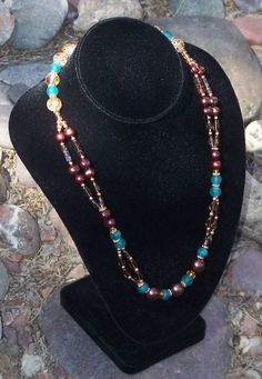 Southwest Style Necklace with Freshwater by ButtercupsWhatEvas