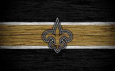 Download wallpapers New Orleans Saints, NFL, 4k, wooden texture, american football, logo, emblem, New Orleans, Louisiana, USA, National Football League, NFC