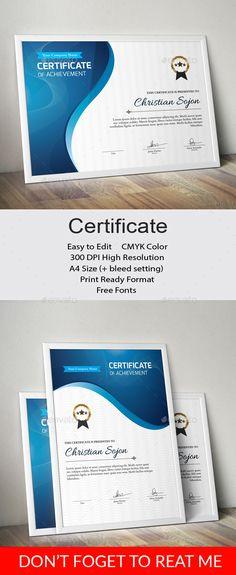 Certificate Template Vector EPS, AI Illustrator. Download here: https://graphicriver.net/item/certificate/17244713?ref=ksioks
