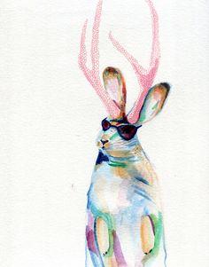 Summer Jack #illustration #summer #jackalope