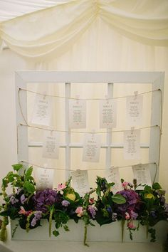 Adorable vintage seating chart - Larrisa by Claire Pettibone, countryside wedding, www.lawsonphotography.co.uk