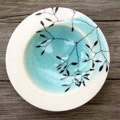 Image of Aqua Porcelain Bowl