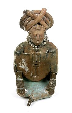 Female figural whistle. Ancient Maya (Jaina, Mexico), A.D. 500-900  Clay, paint. Courtesy, National Museum of the American Indian, Smithsonian Institution