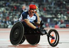 Wrapping up the success: David Weir caps of a stunning day for Great Britian as he storms to gold in the 5,000m