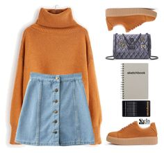 """""""Sketchbook"""" by gabygirafe ❤ liked on Polyvore featuring WithChic, Sheinside, women and shein"""