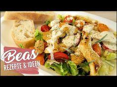 Fruchtiger bunter Salat  Rezept mit Curry Hähnchen | Curry Dressing | Leicht kochen - YouTube