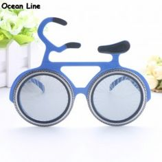 d0dbb880b196 Funny Bicycle Glasses Novelty Bicycle Sunglasses Party Props Cosplay  Costume Favors Events Festive Party Supplies Decoration