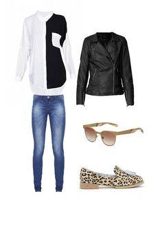 Mañana de brunch: Cazadora ONLY, Camisa y zapatos KLING, Vaqueros DESIGUAL, Gafas FLIPPANLOOK