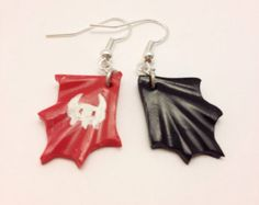 Viking Dragon Tail Fin Earrings, Toothless, How to Train Your Dragon