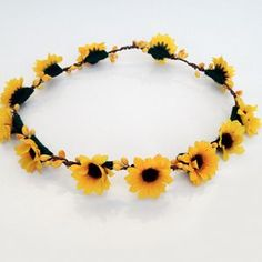 Sunflower Crown for the flowergirl: