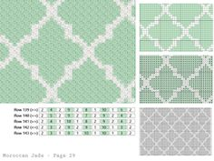 Moroccan Jade by Laura Hanks C2c Crochet Blanket, Crochet Chart, Crochet Stitches, Tapestry Crochet Patterns, Mosaic Patterns, Wedding Cross Stitch Patterns, Moroccan Pattern, Manta Crochet, Knitting Charts