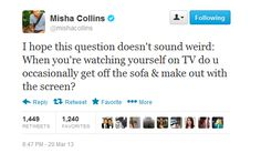 He tweets like a poet too. | 15 Reasons Misha Collins Is An Angel Amongst Men