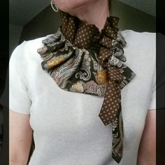 Upcycled ties from Desert Pearl Designs will add eco-fun to your wardrobe. Many styles and colors available.