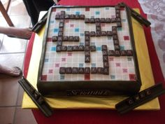 Scrabble Deluxe Game Board Cake By ilovemyali on CakeCentral.com