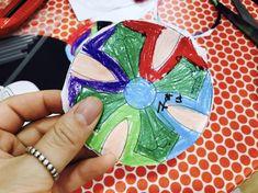 우리나라 프로젝트 : 전통문양 팽이 만들기 : 네이버 블로그 Cuff Bracelets, Playing Cards, Cards, Bangles