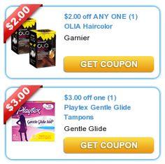 COUPONS.com $$ New Printable Coupons: Playtex, Olia Haircolor + More (7/9)!