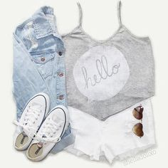Clothes Casual Outift for • teens • movies • girls • women •. summer • fall • spring • winter • outfit ideas • dates • school • parties Polyvore :)