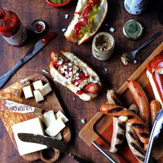 Shop our selection of Grilling and have the finest gourmet foods delivered right to your door! Charcuterie Gifts, Gourmet Recipes, Gourmet Foods, Bratwurst, Cheddar, Sausage, Grilling, Spicy, The Cure