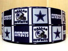 "7/8"" Dallas Cowboys inspired 4 yards Grosgrain Ribbon"
