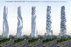 Have you ever seen a building in motion that actually changes its shape? Sounds unbelievable but not to Dr. David Fisher. This building will never appear exactly the same twice. It is amazing but you will have the choice of waking up to sunrise in your bedroom and enjoying sunsets over the ocean at dinner.