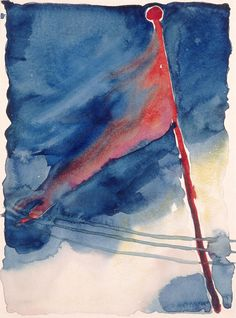 Georgia O'Keeffe (American, 1887–1986). The Flag, 1918.