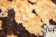 blackberry cobbler - can be made gluten free from @mommyhatescooking