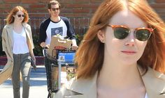 Emma Stone and Andrew Garfield seen together on grocery run