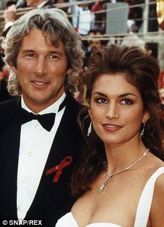 Lost loves: Richard Gere and Cindy Crawford