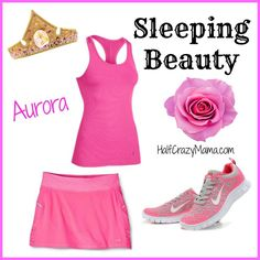 Sleeping Beauty Aurora - Easy Disney Running Costume Ideas
