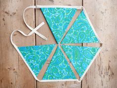 Blue Green & Aqua 'Wendy' Bunting / Banner / by annasbluebellblue Bunting Banner, Banners, Etsy Handmade, Handmade Gifts, Flag Photo, Green Aqua, Small Businesses, Photo Props, Garland