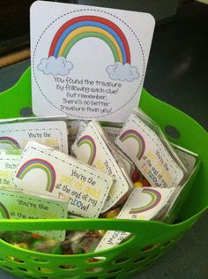 St Patricks Day Hunt- classroom edition With adorable little poem.