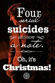 """marie-turner: """"Let's Kill Hiatus Graphics Battle December round – Christmas at Baker Street Christmas comes to Baker Street not by the calendar, but by the police reports ))) """" Sherlock Holmes Benedict Cumberbatch, Sherlock Holmes Bbc, Sherlock Fandom, Sherlock Quotes, Jim Moriarty, Sherlock John, Sherlock Season, Benedict Sherlock, Watson Sherlock"""
