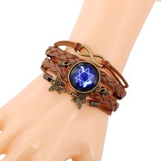 Ladies Vintage Leather Bracelet Wrist Watch [Orange Dot Deals]