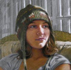 "Liz Patterson Art Journal: Portrait Gallery  11"" x 11"", colored pencil on Pastelbord"