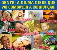 Brasil-Dilma Rousseff-2015-Charge-Gente! a Dilma disse que vai combater a corrupção!