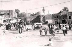 حي جبن اللبان وفيه سوق شعبي على طريق جامع البحر  طبرية، فلسطين 1938 Neighborhood cheese frankincense, which is a popular market on the road to collector Sea of Galilee, Palestine 1938